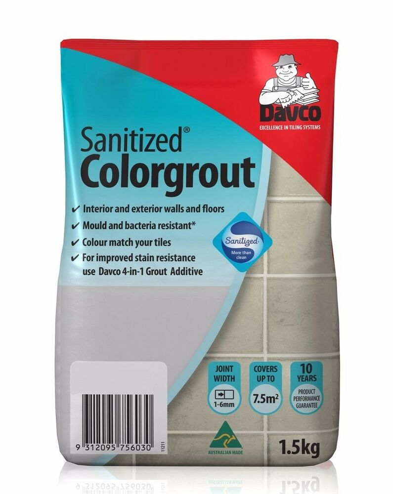 Davco SANITIZED COLOURGROUT 1.5Kg *Aust Made - Taupe, Cashmere, Bone ...
