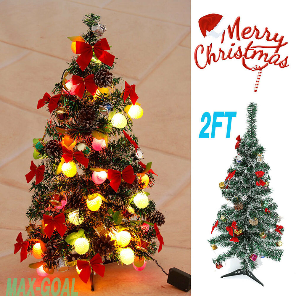 Small Battery Operated Christmas Tree: 2FT Tabletop Christmas Tree Battery Operated Berries And