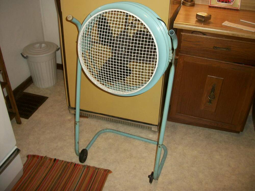 Industrial Box Fan : Vintage retro westinghouse turquoise aqua speed