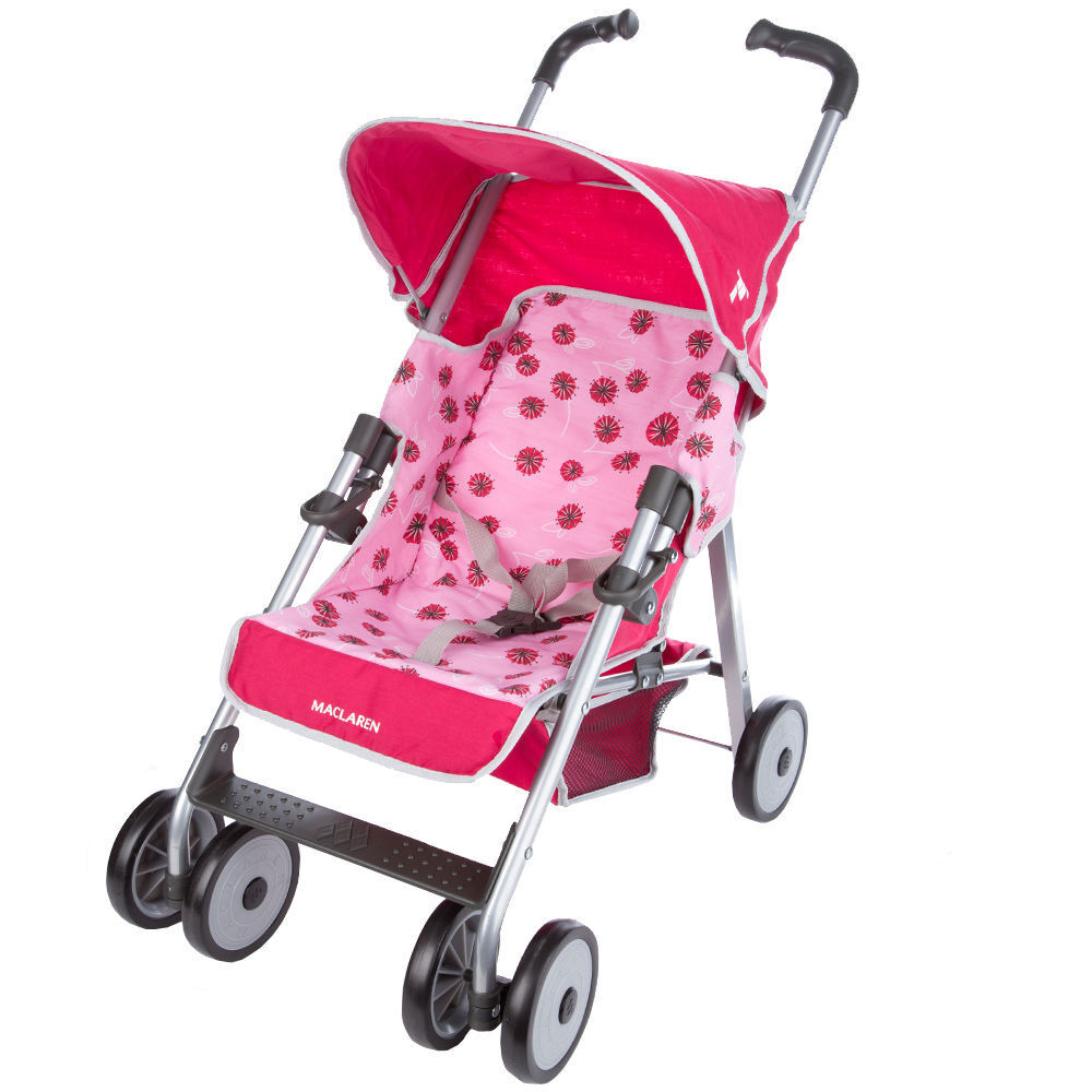new maclaren baby toddler toy pram play pushchair stroller pink ebay. Black Bedroom Furniture Sets. Home Design Ideas