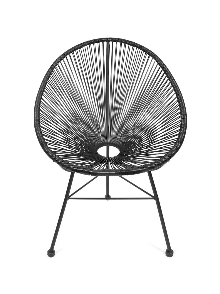 Acapulco stuhl chair sessel schwarz design klassiker for Sessel klassiker design