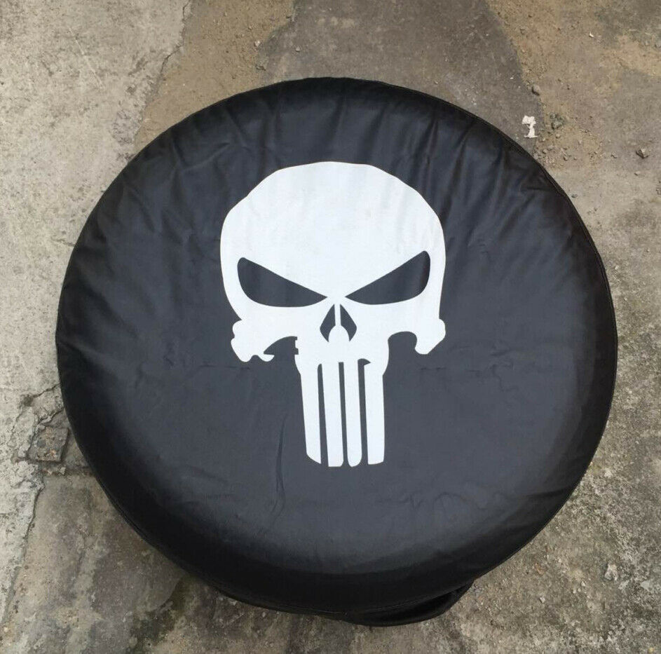 "What Tires Fit My Car >> 18"" Spare Wheel Cover Tire Covers Skull Image Black Fit For all car 