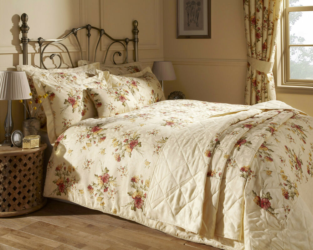Epsom Quilt Cover Set With Matching Bedspread And Curtains Available Ebay