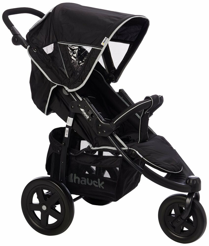 hauck caviar grey viper 3 wheel pushchair stroller from birth baby buggy 310366 4007923310366 ebay. Black Bedroom Furniture Sets. Home Design Ideas