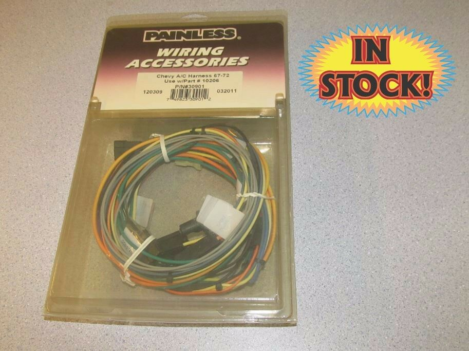 Brilliant Painless Performance 30901 1967 72 Chevy A C Harness Use With Part Wiring Database Obenzyuccorg