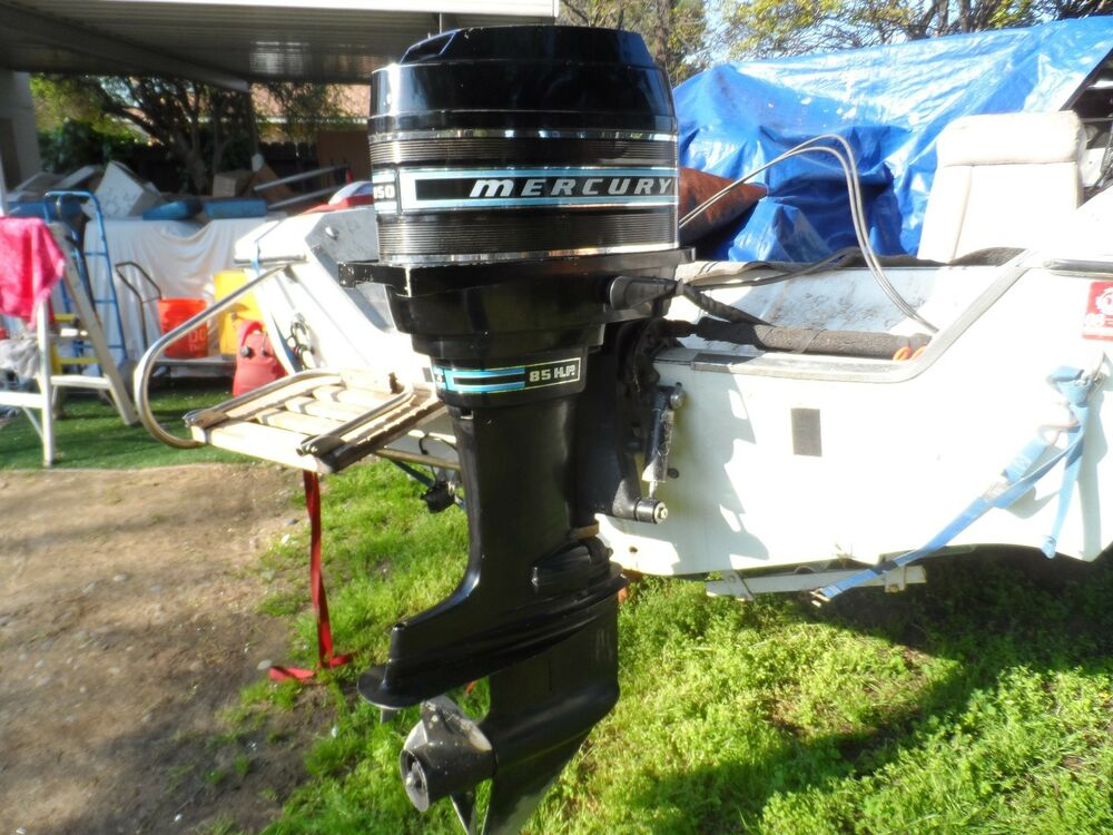 Vintage mercury outboard motor 85 hp 850 ebay for Mercury outboard motor for sale