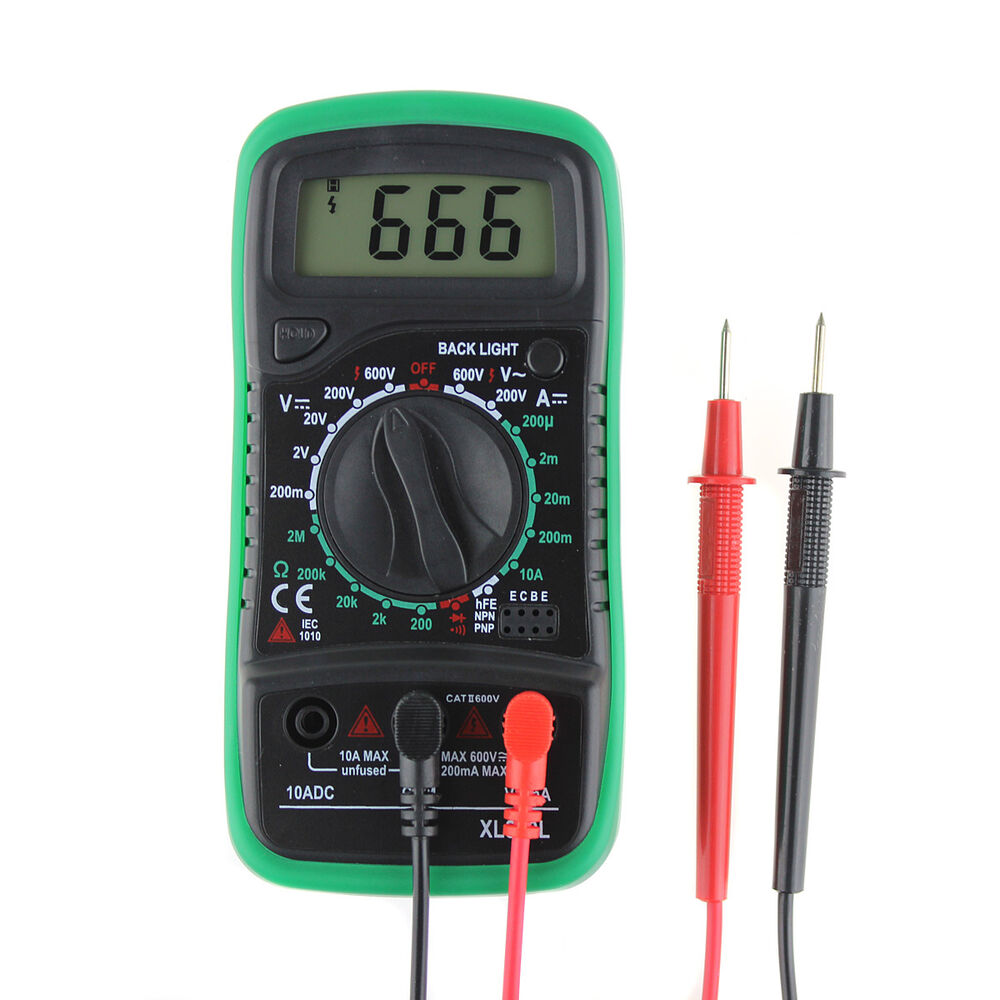 L De Voltage Meter : Lcd digital multimeter current volt ammeter ohm meter