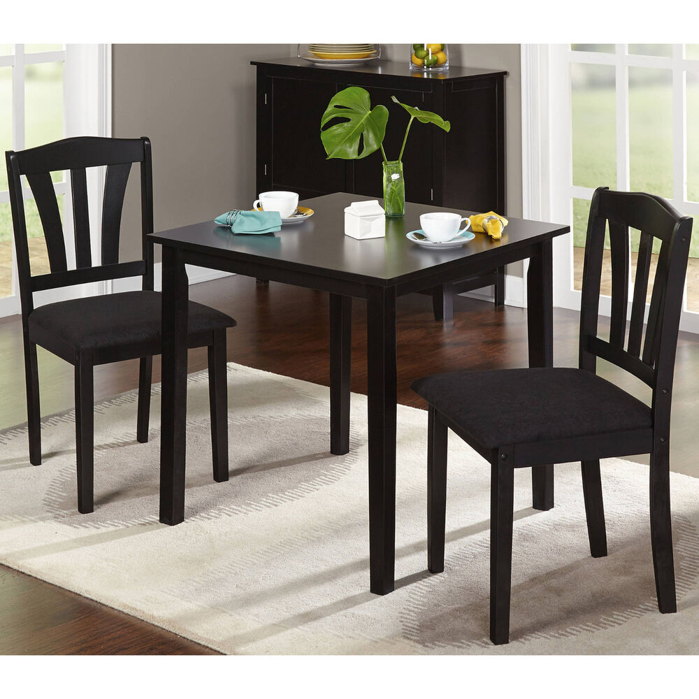 Small 3 Piece Dining Set Table And Chairs Kitchen