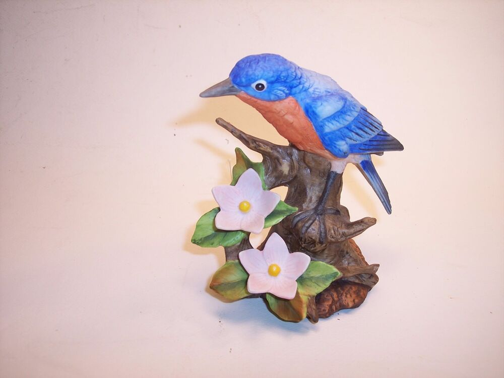 Vintage Lefton China Hand Painted Bluebird 01071 Bird