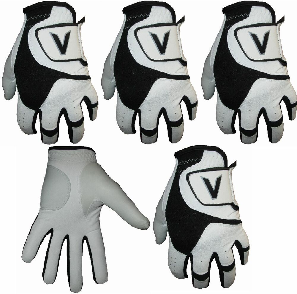 5 Men's Black&White All Weather Golf Gloves Leather Palm ... | 1000 x 991 jpeg 119kB