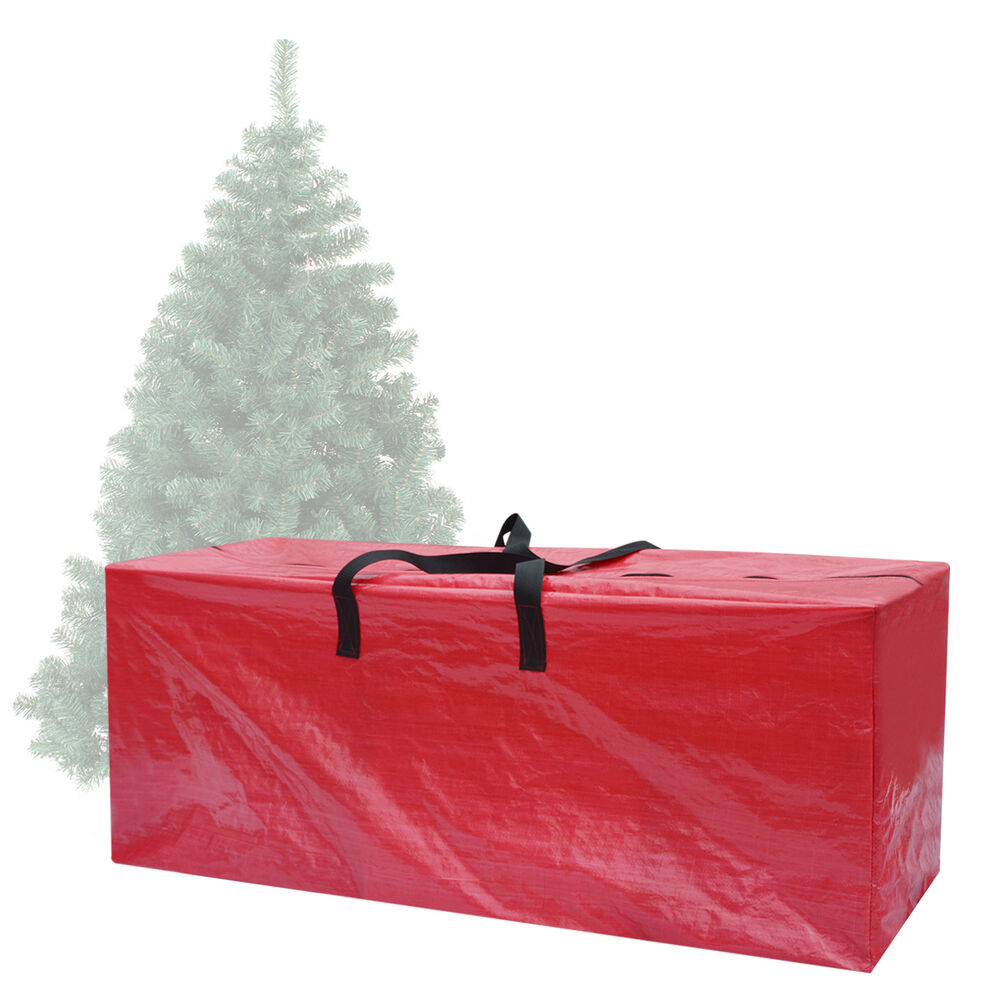 heavy duty large christmas tree storage bag for clean up holiday red up to 9ft ebay. Black Bedroom Furniture Sets. Home Design Ideas