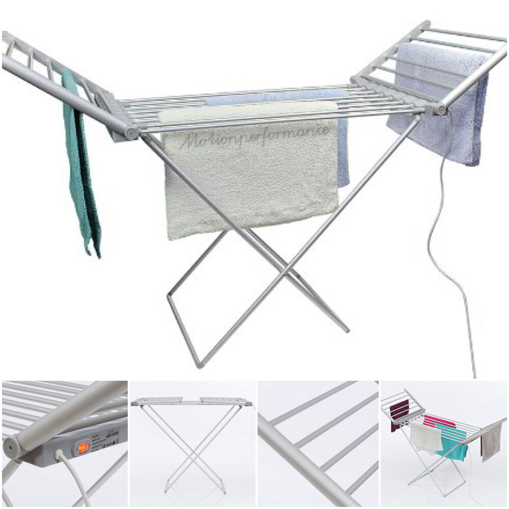 daewoo electric indoor laundry clothes drying dryer heated airer folding rack 5024996818598 ebay. Black Bedroom Furniture Sets. Home Design Ideas