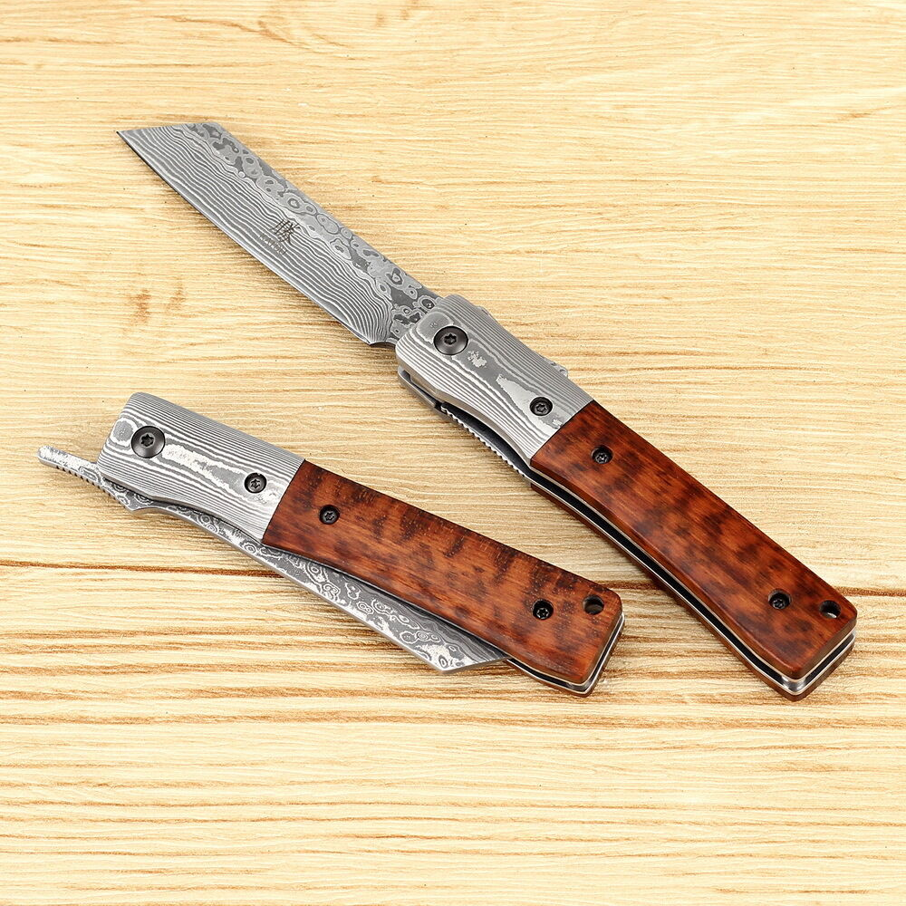 handmade japanese knives katsu handmade damascus japanese pocket folding knife with 5694