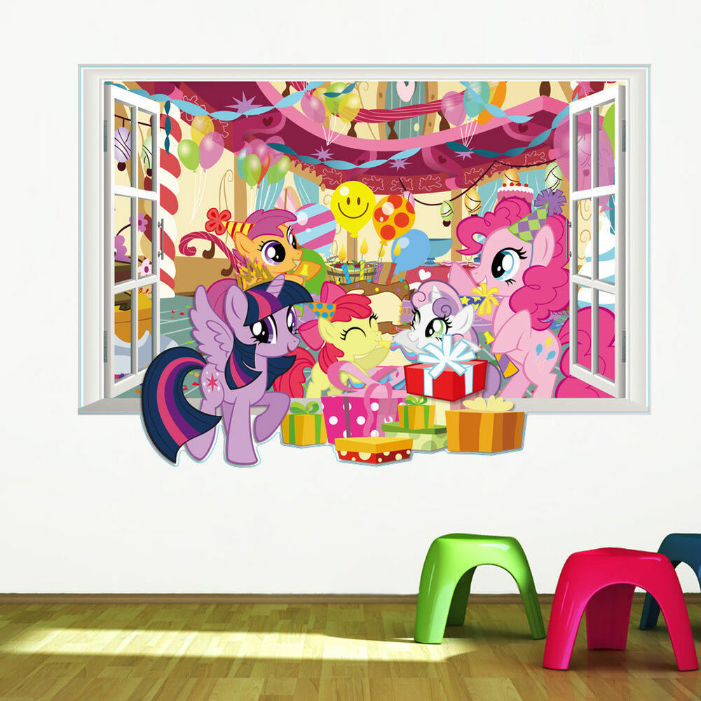 my little pony window wall stickers decor home decal kids bedroom