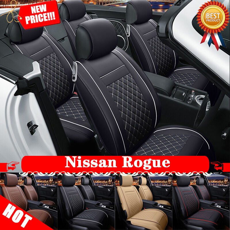 fantastic car seat cover pu leather 5 seats fs945 for nissan rogue 2013 2016 ebay. Black Bedroom Furniture Sets. Home Design Ideas