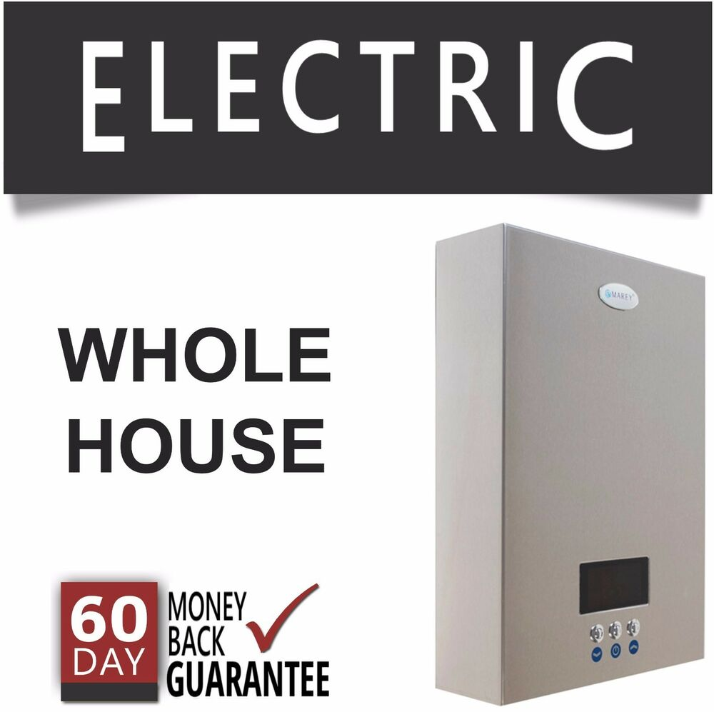 Eco270 electric tankless hot water heater instant on for Whole house electric heat