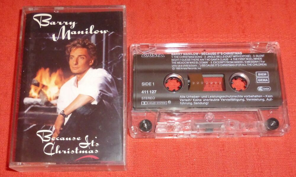 BARRY MANILOW - UK CASSETTE TAPE - BECAUSE IT\'S CHRISTMAS | eBay