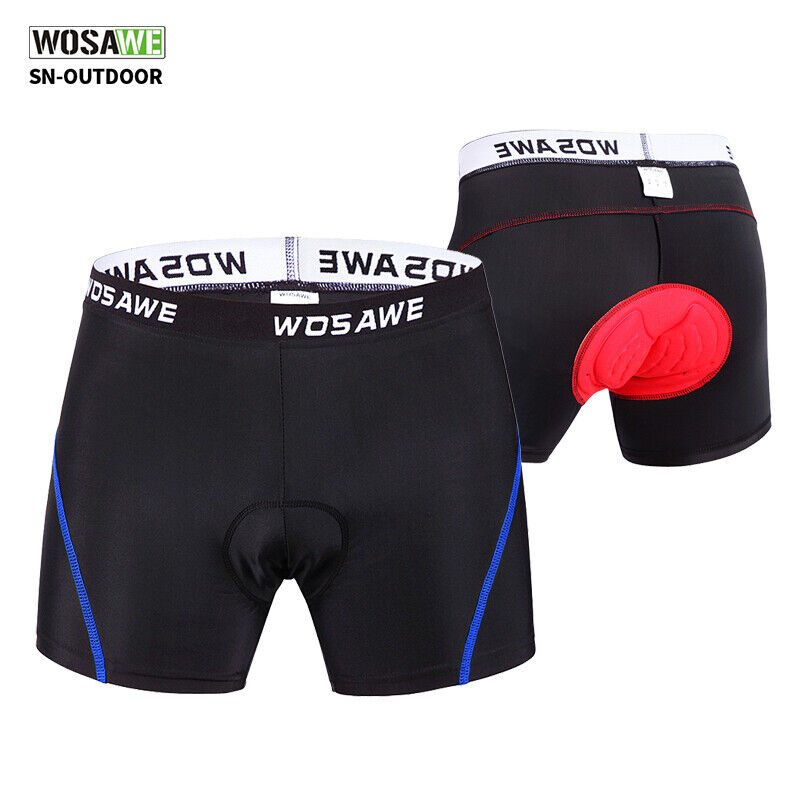 Women Men Cycling Shorts Bicycle Bike Underwear Pants 3D With Padded Gel T4Q6