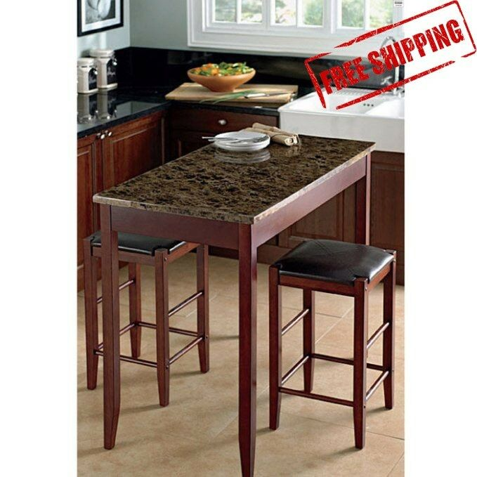 3 Pc Table Set Tavern Collection Stools Island Kitchen Spacesaver Dining Set Ebay