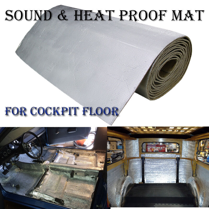 27sqft 6mm cockpit floor car sound deadener heat proof insulation mat for ford ebay. Black Bedroom Furniture Sets. Home Design Ideas