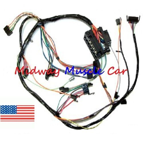 Dash Wiring Harness With Fuse Block 68 69 Chevy Camaro