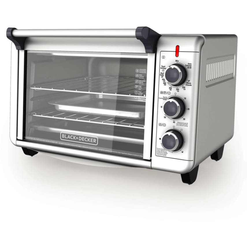 Black Decker 6-Slice Convection Kitchen Countertop Toaster Oven- 12 ...