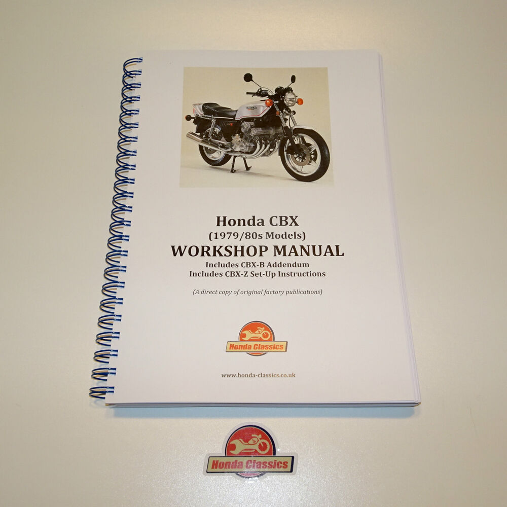 honda cbx 1000 factory workshop shop manual book reproduction honda cbx 1000 factory workshop shop manual book reproduction hwm049