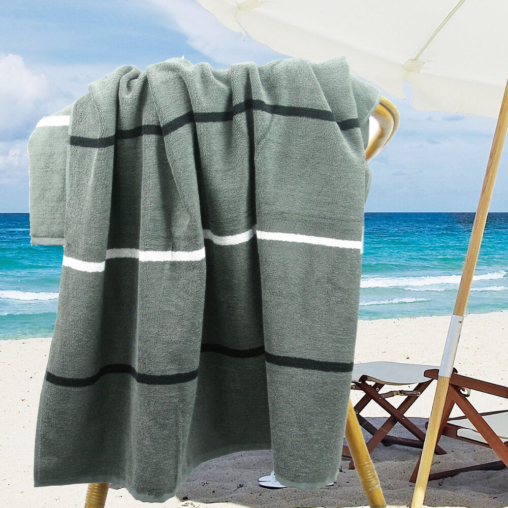 Ramesses Cotton Jacquard Beach Towel Luxury Extra Large
