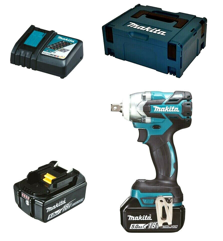 makita akku schlagschrauber dtw285rtj 1 2 zoll 18 volt 5 0. Black Bedroom Furniture Sets. Home Design Ideas