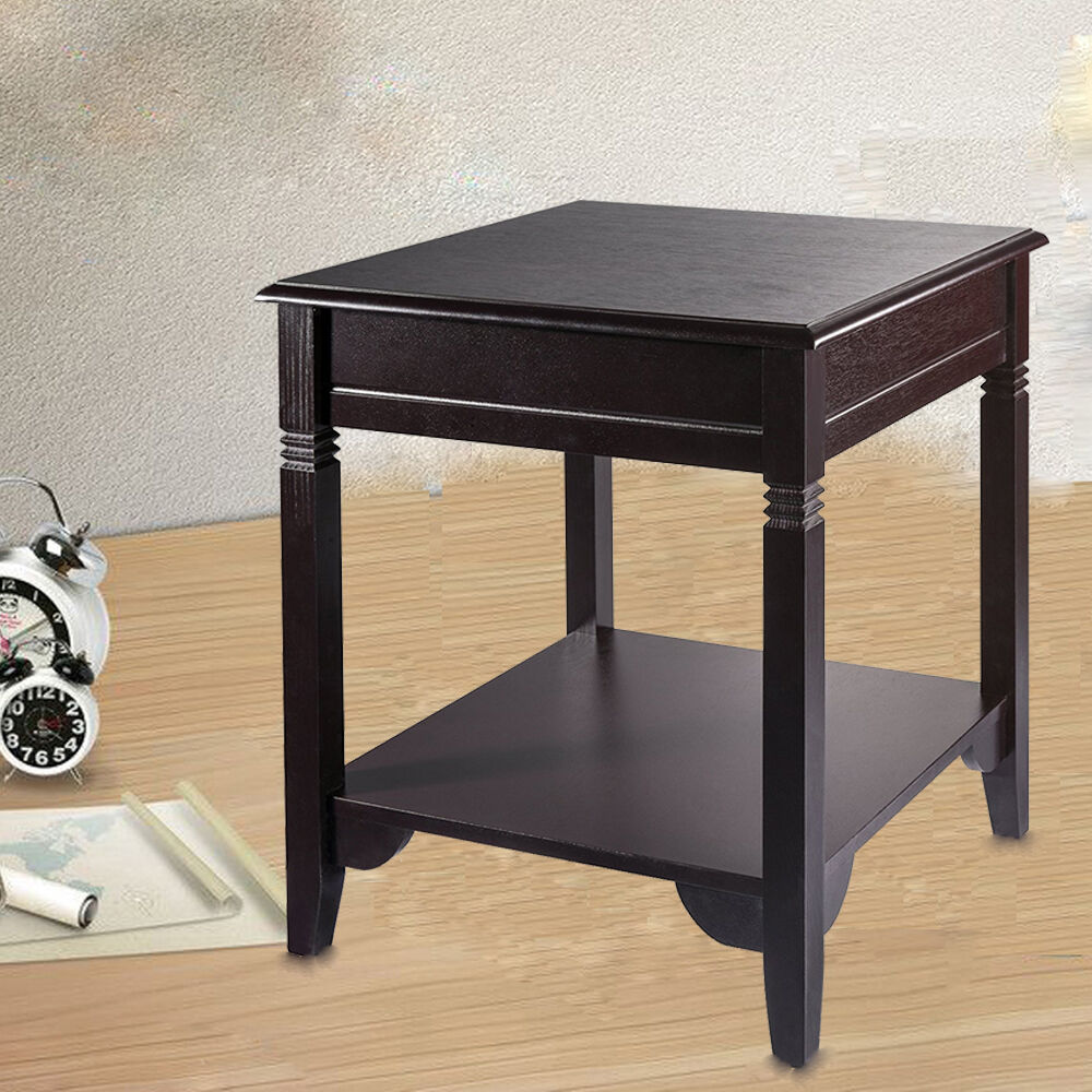 End side table storage nightstand accent table sofa shelf for Side table for sectional sofa