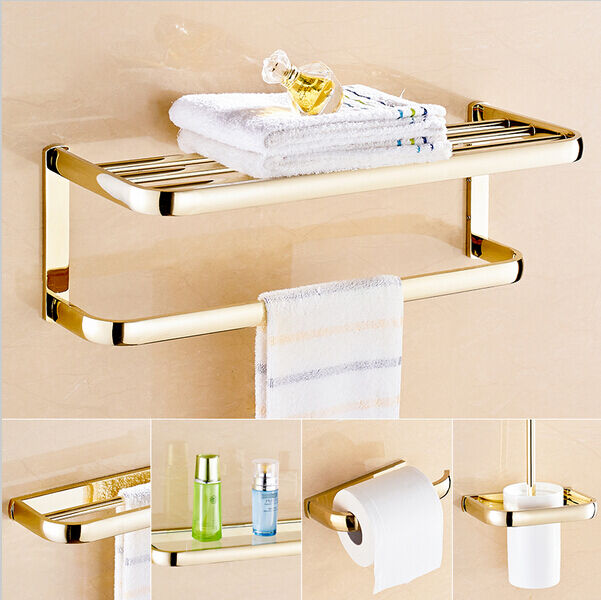 Modern bathroom hardware set bath accessories towel bar for Rack for bathroom accessories