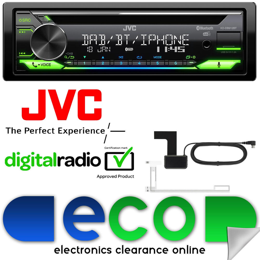 Blaupunkt Skagen 370 Dab Bt In Car Radio With Bluetooth: JVC KD-DB98BT DAB+ Bluetooth CD MP3 USB Aux Car Stereo