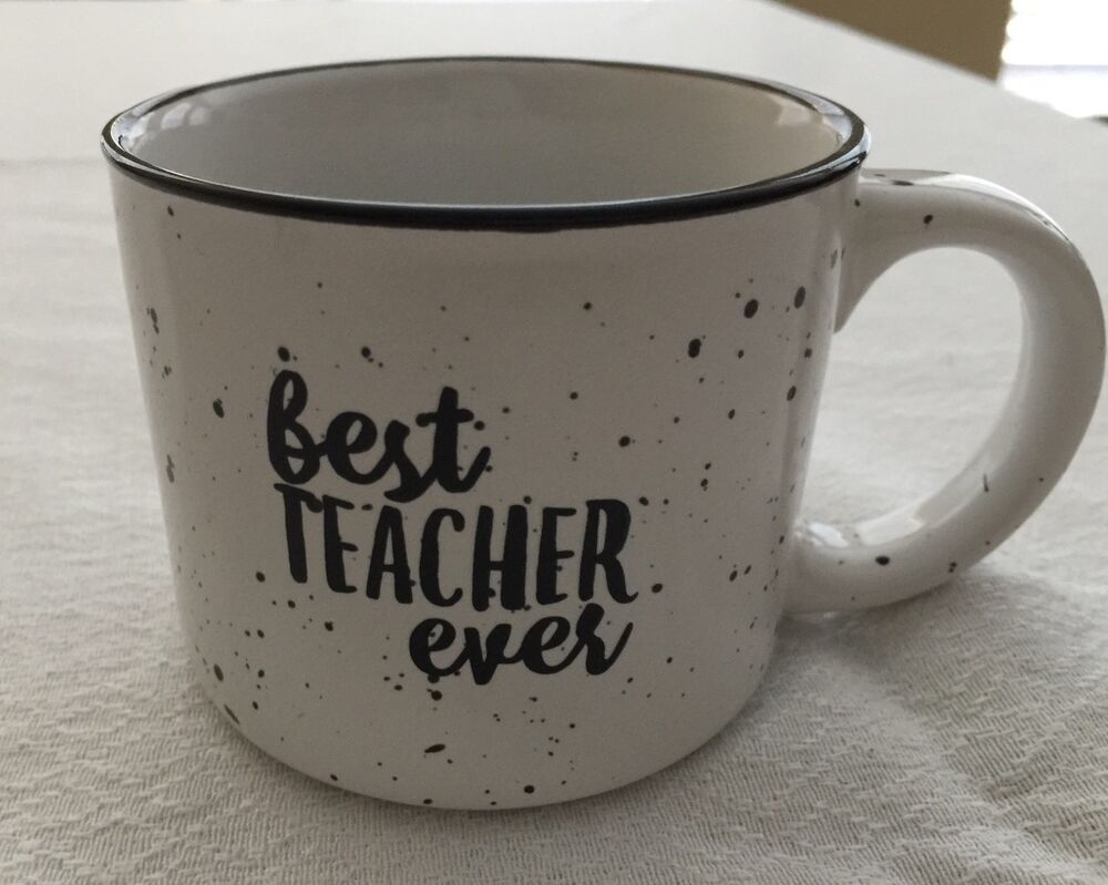 Best teacher ever glass coffee mug 13 oz perfect Best coffee cups ever