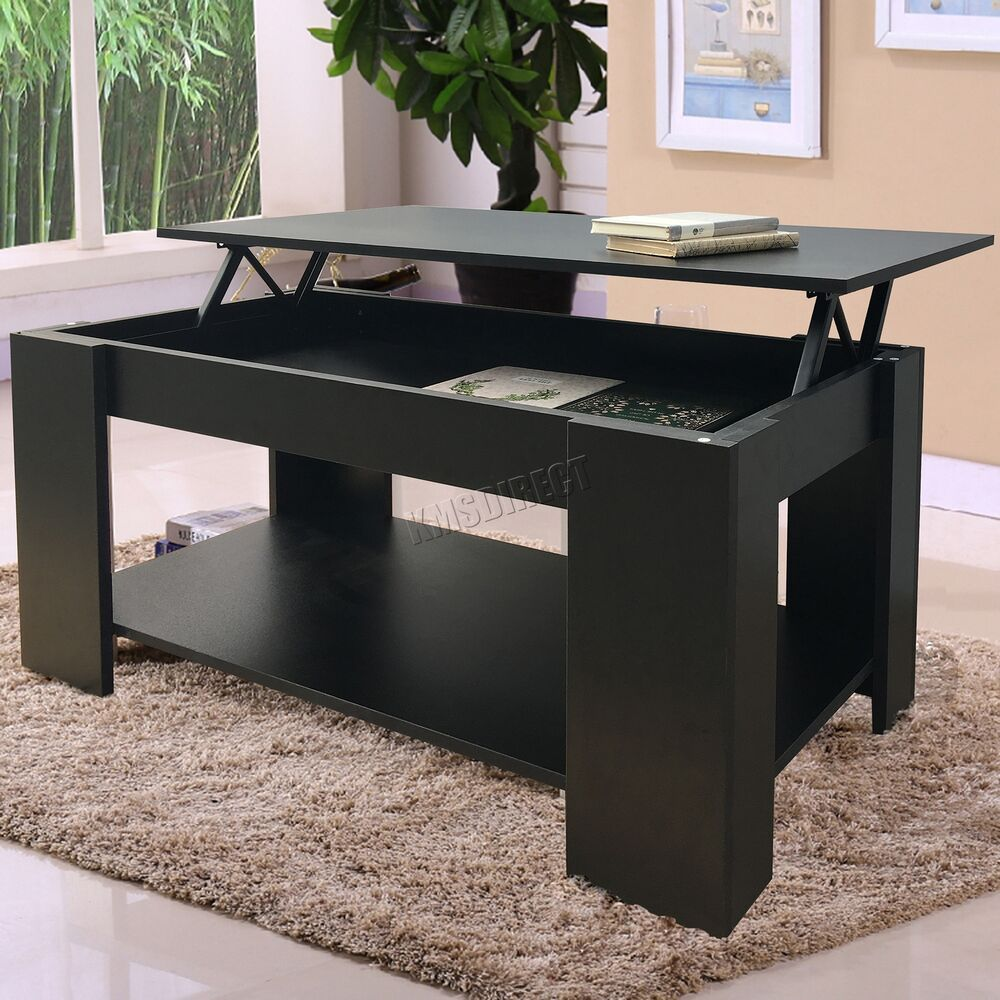 Where To Buy Lift Top Coffee Tables With Storage: FoxHunter Lift Up Top Coffee Table With Storage And Shelf