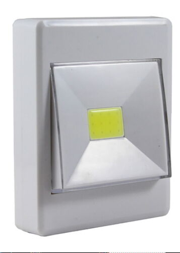 new rocker led wireless cob switch light under cabinet shed closet night kitchen ebay. Black Bedroom Furniture Sets. Home Design Ideas