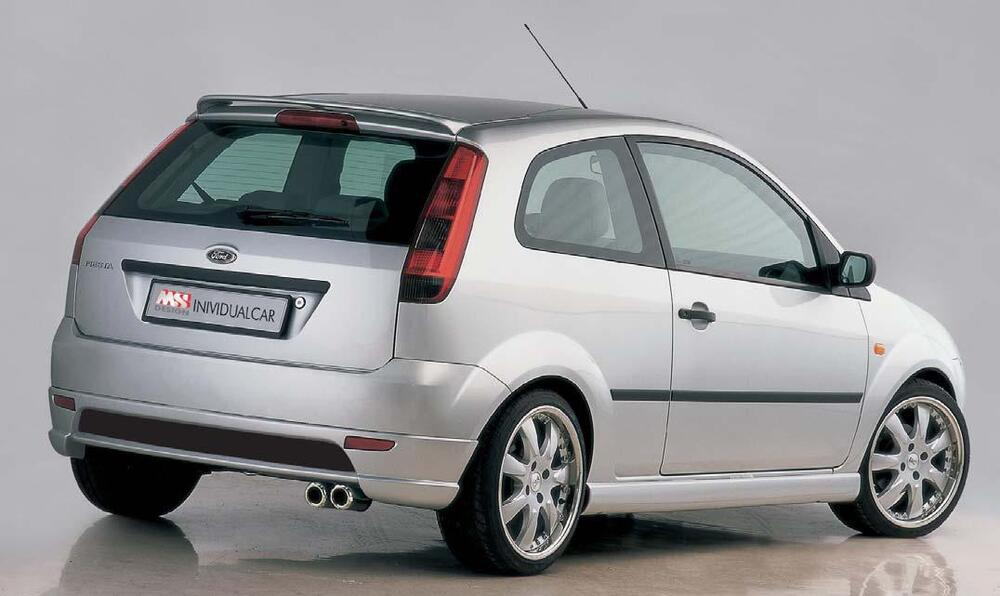 ford fiesta mk5 ms design roof spoiler 3dr rear hatch lip wing ebay. Black Bedroom Furniture Sets. Home Design Ideas