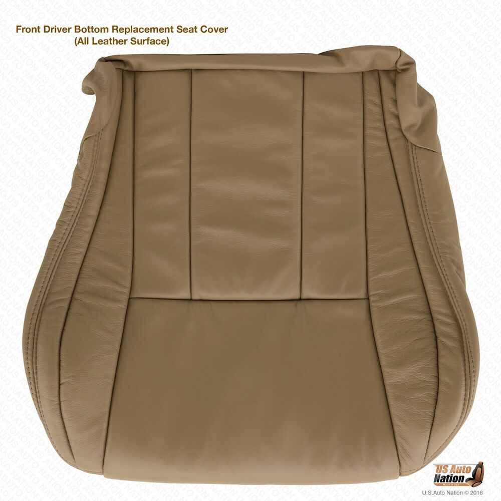 Driver Bottom Oak Tan Leather Seat Cover For 1996 1997