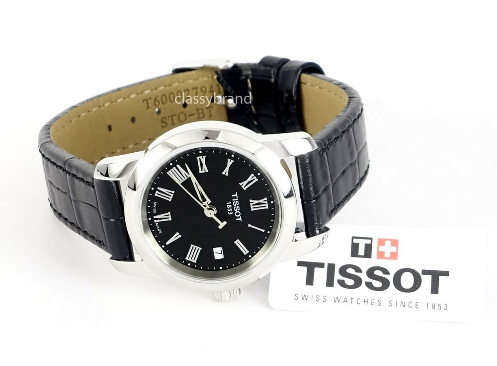 tissot t0332101605300 dream black dial black leather strap women 39 s watch new ebay