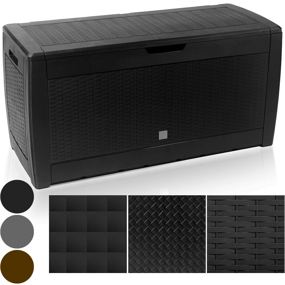 auflagenbox kunststoff truhe box kissenbox 310l ger tetruhe kiste gartentruhe ebay. Black Bedroom Furniture Sets. Home Design Ideas