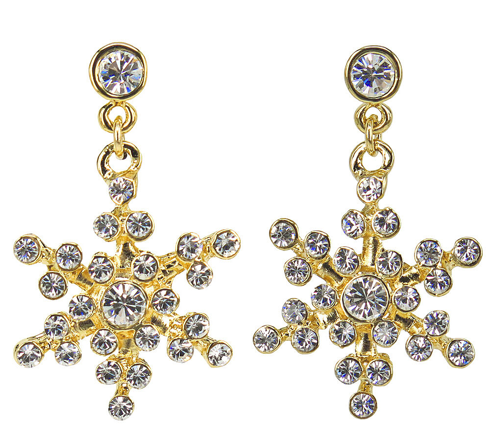 swarovski snowflake earrings rucinni snowflake earrings with swarovski crystals ebay 9718