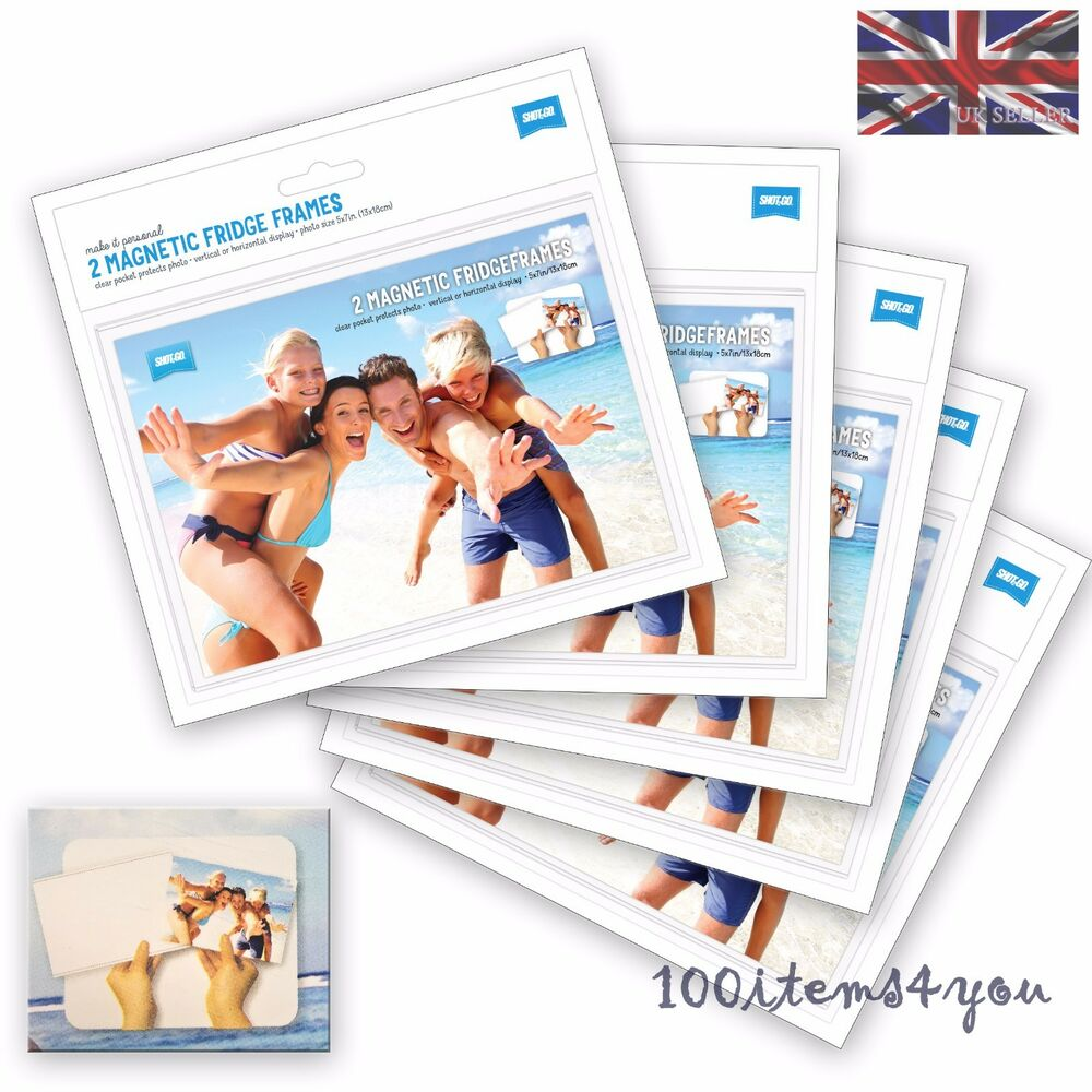 FRIDGE PHOTO FRAMES PACK OF 10 CLIAR MAGNETIC FRIDGE FRAMES FOR 6\