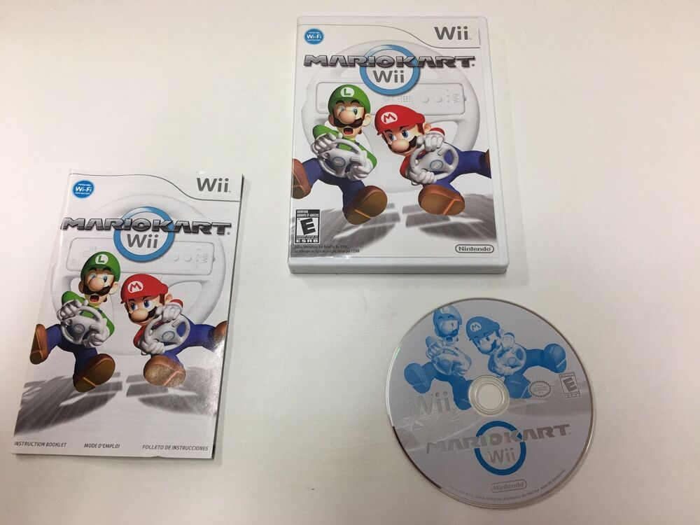 super mario kart wii with game case and manual complete. Black Bedroom Furniture Sets. Home Design Ideas