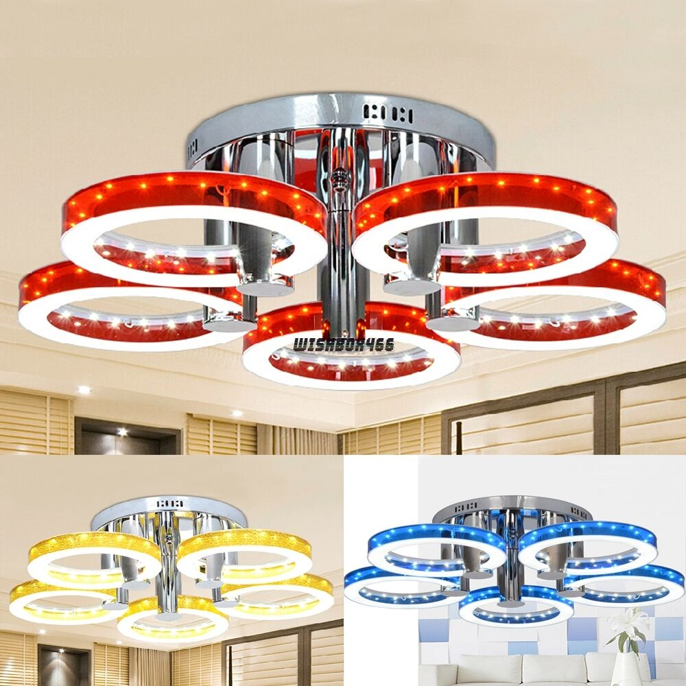 Ceiling Lamp The Sims 4: Acrylic & Metal Round Chandelier 29'' Ceiling Light W/ 5