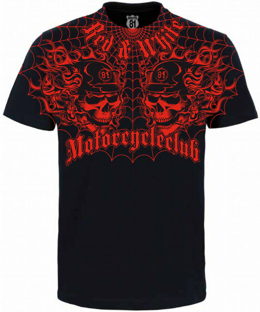 hells angels support 81 big red machine world t shirt. Black Bedroom Furniture Sets. Home Design Ideas