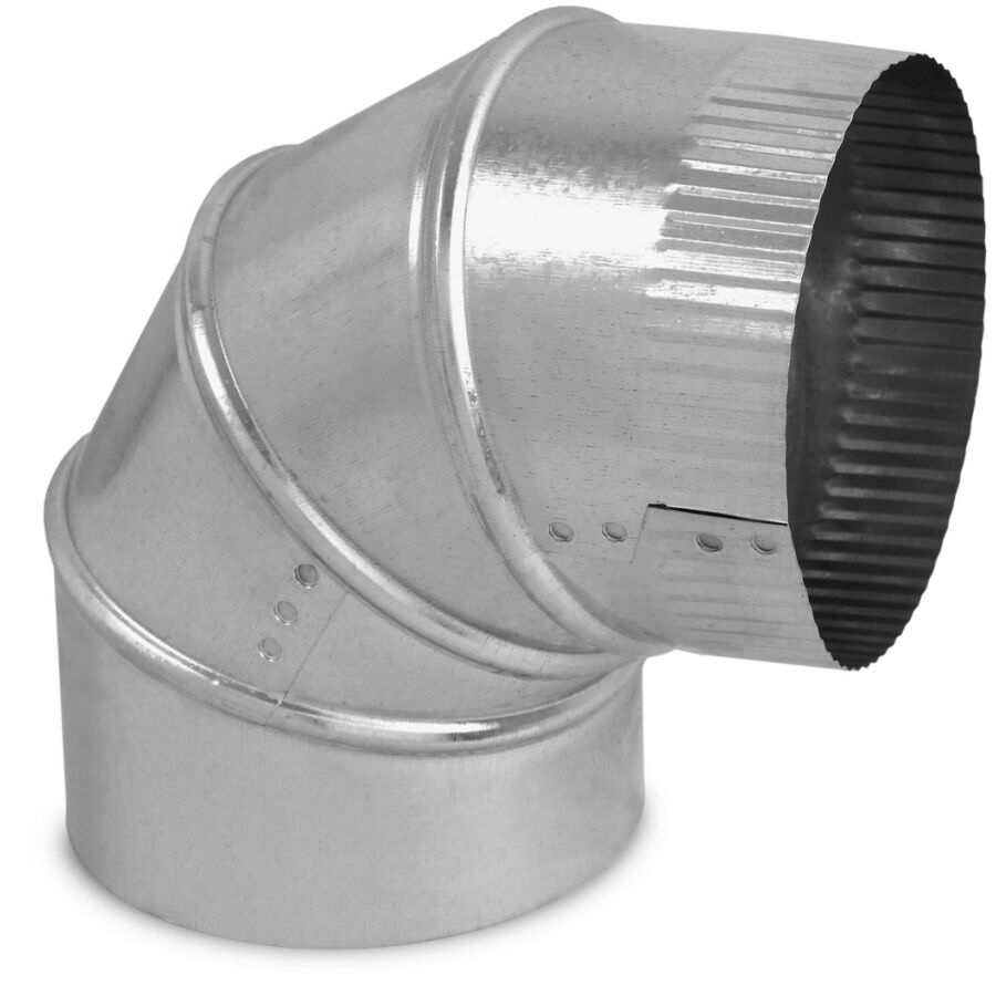 Heating Duct Elbows : Air duct degree adjustable elbow quot round