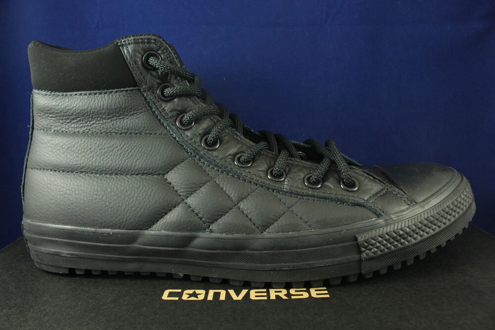 6aaf12cf81e147 Details about CONVERSE CHUCK TAYLOR ALL STAR CT AS BOOT PC HI BLACK QUILTED  153669C SZ 8