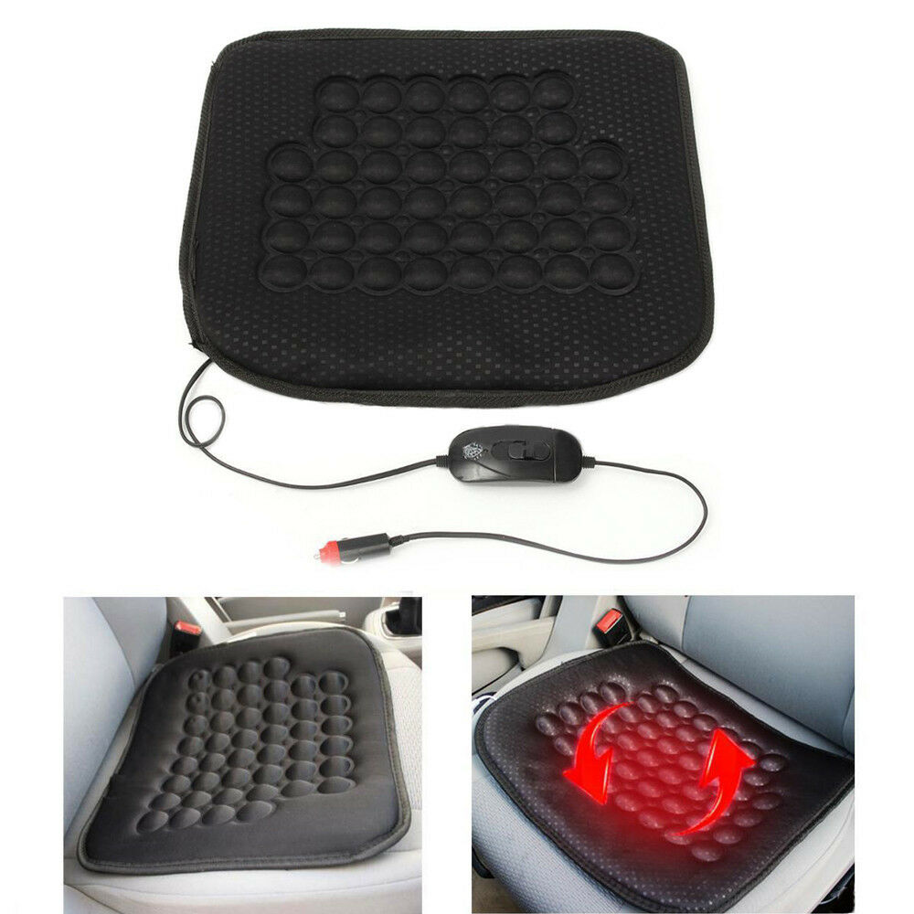Car Rv Atv Seat Heated Heater Cushion Cover Massage Mat