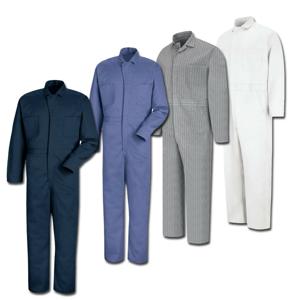 Red Kap 100 Cotton Button Front Work Uniform Coverall