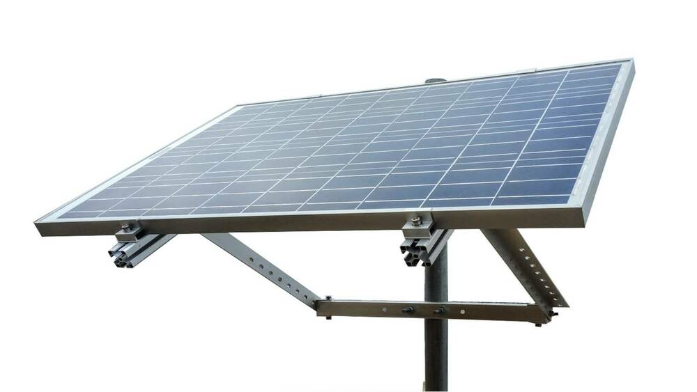 Windynation Side Of Pole Solar Panel Mount Rack For 30w To