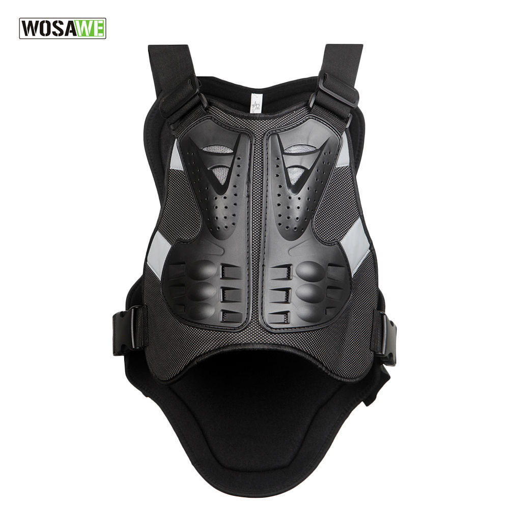 Men 39 s motorcycle armor vest jacket racing riding spine for Motorcycle body armor shirt
